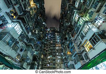 bâtiment, hong kong