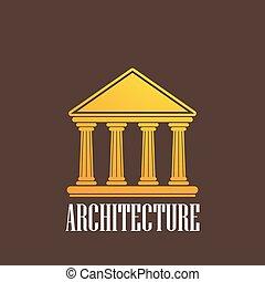 bâtiment, illustration, icône