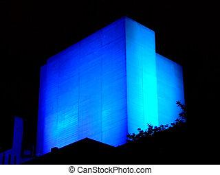 bâtiment, incandescent