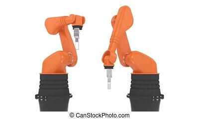 bâtiment, industriel, 201, bras robotique