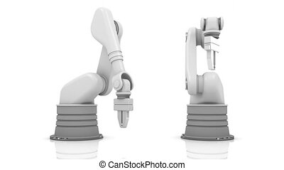 bâtiment, industriel, bras, br, robotique