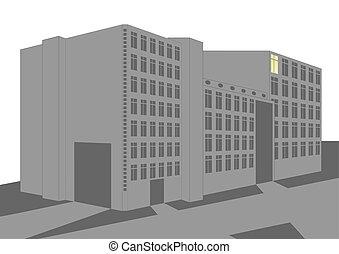 bâtiment., industriel
