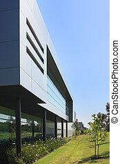 bâtiment, industriel, moderne
