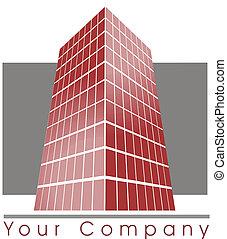 bâtiment, logo