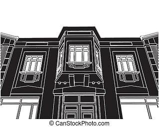 bâtiment, maison, éclectique