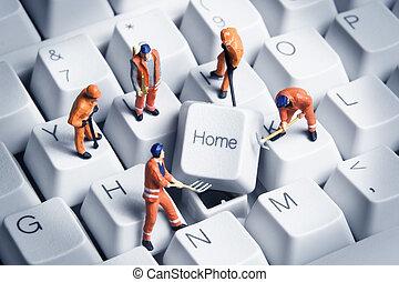 bâtiment, maison, basé, business