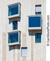 bâtiment moderne, résidentiel