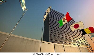 bâtiment, nations unies