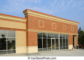 bâtiment, nouveau, commercial