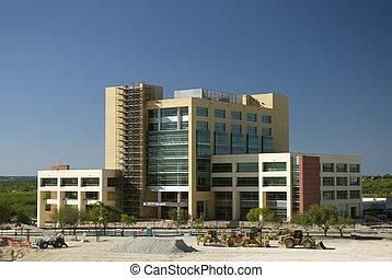 bâtiment, nouveau, monde médical