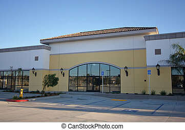 bâtiment, nouveau, vacant, vente au détail