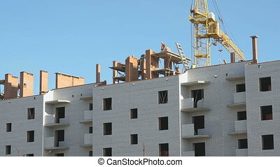 bâtiment, résidentiel, construction, multi-storey