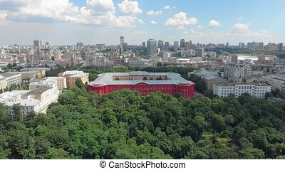bâtiment, rouges, université