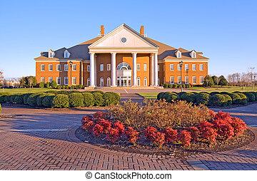bâtiment, université, virginie, campus