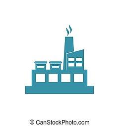 bâtiment, usine, industriel