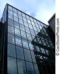 bâtiment, verre