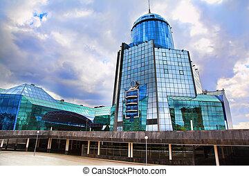 bâtiment, verre, moderne
