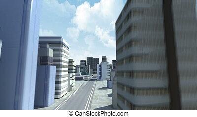 bâtiment, ville, construction, 2