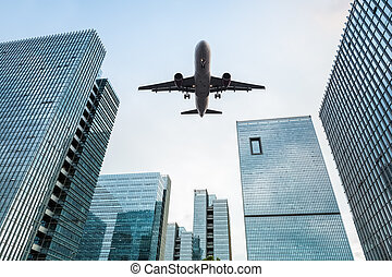 bâtiments bureau, avion