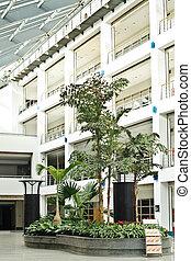 bâtiments, bureau, secteur, photo, moderne, espaces, relaxation, intérieur