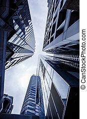 bâtiments, hong, jour, kong