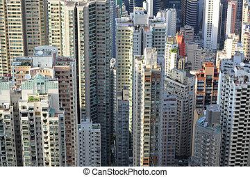 bâtiments, hong kong