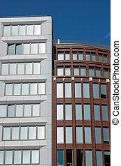 bâtiments, moderne, berlin, bureau
