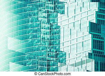 bâtiments, moderne, bureau