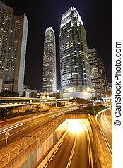 bâtiments, moderne, central, hong kong