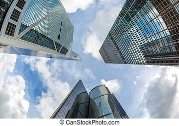 bâtiments, moderne, hong, bureau, kong