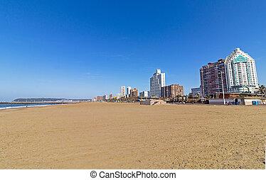bâtiments, plage