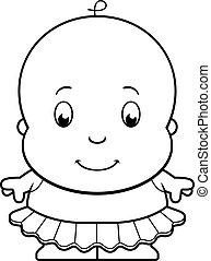 bébé, ballerine, dessin animé