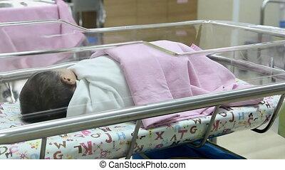 bébé, crèche, nouveau né