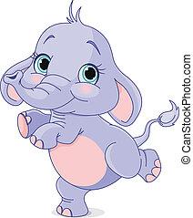 bébé, danse, éléphant