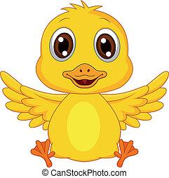 bébé, dessin animé, mignon, canard