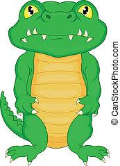 bébé, dessin animé, mignon, crocodile