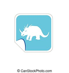 bébé, dinosaure, vecteur, bleu