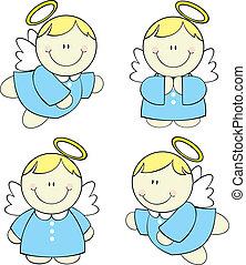 bébé, ensemble, anges