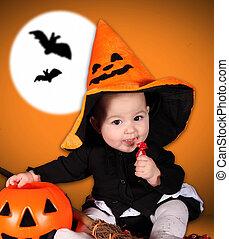 bébé, halloween