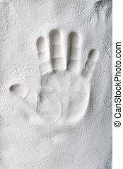 bébé, handprint