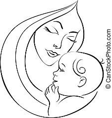 bébé, mère