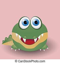 bébé, mignon, crocodile