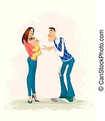 bébé, parents