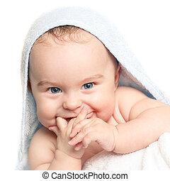 bébé, sourire, mignon