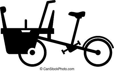 bébé, vélo, poussette, mère