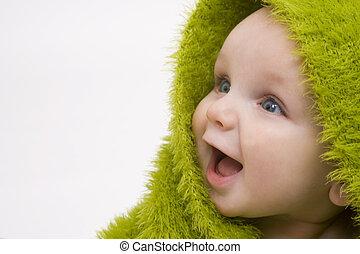 bébé, vert