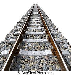 béton, dormeurs, lignes, rails