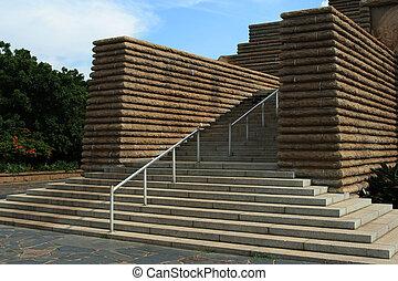 béton, steps.