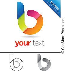 b, conception, lettre, élément