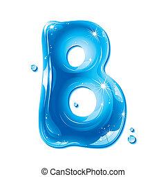 b, liquide, -, eau, lettre, capital